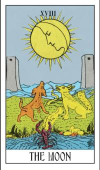 18 themoon min - Tarotkort